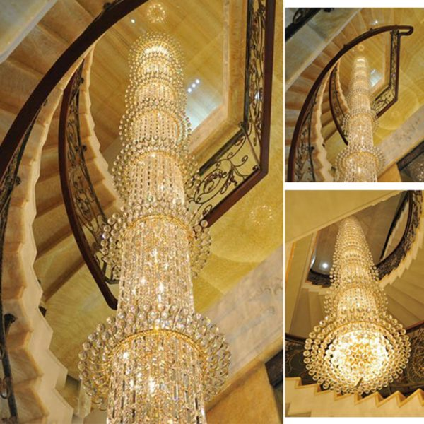 Highly Recommend Free Shipping Top Quality Traditional Stair Crystal font b Chandelier b font Luxury living