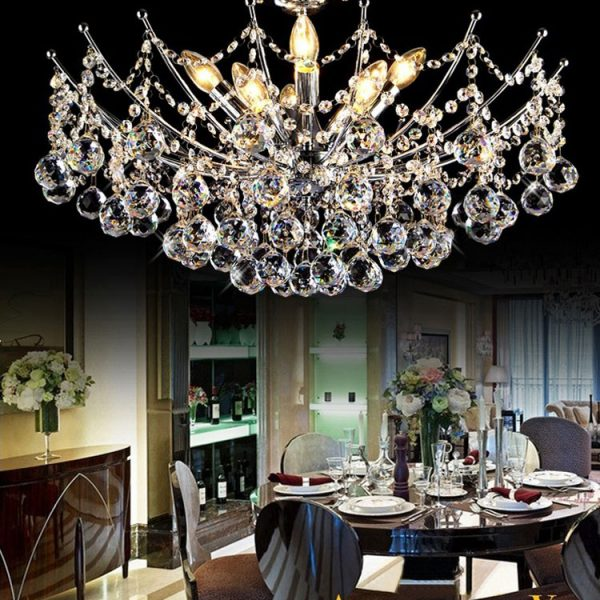 Hot Selling Modern Crystal font b Chandelier b font Light Fixture Chrome Finish Width cm c