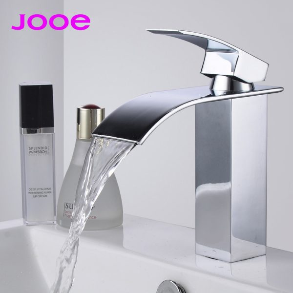 JOOE waterfall font b basin b font font b faucets b font Contemporary high quality brass
