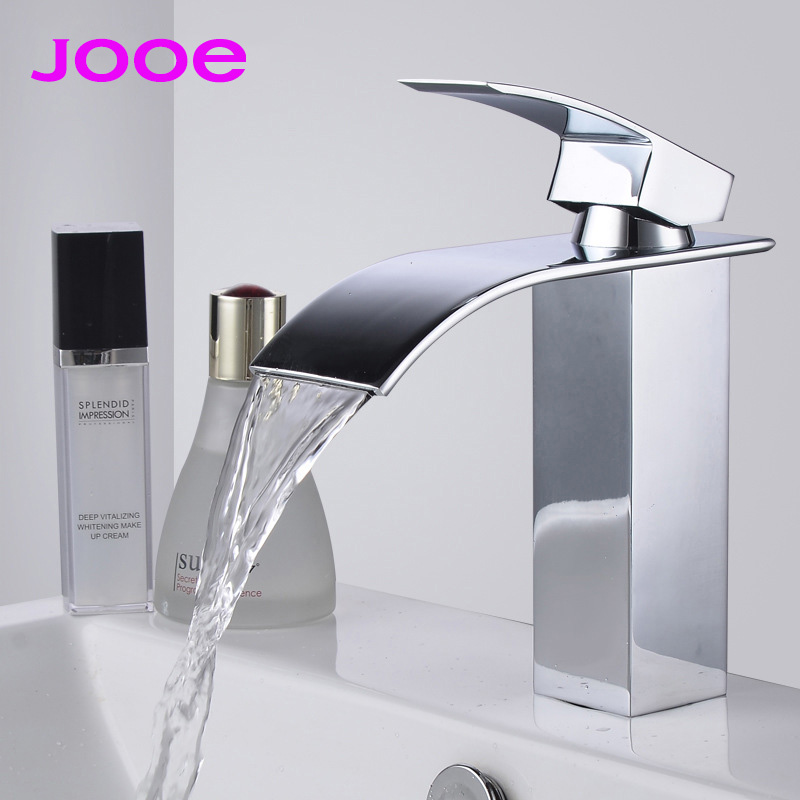 JOOE waterfall basin faucets Contemporary high quality brass Hot and cold Mixer tap bathroom faucet torneira para banheiro