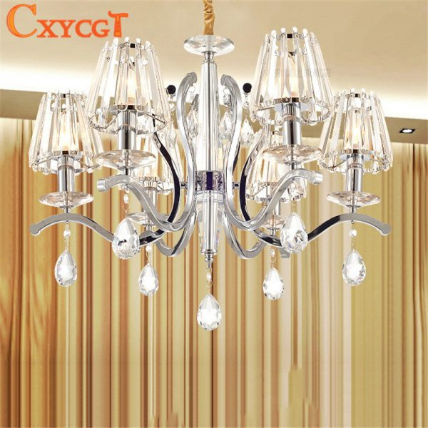 K Crystal font b Chandelier b font Light Fixture For the Bedroom Modern Lustres de Cristal