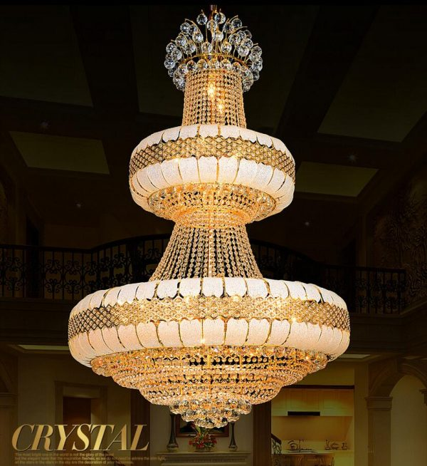 LED Modern font b chandelier b font luxury K Gold crystal font b chandelier b font