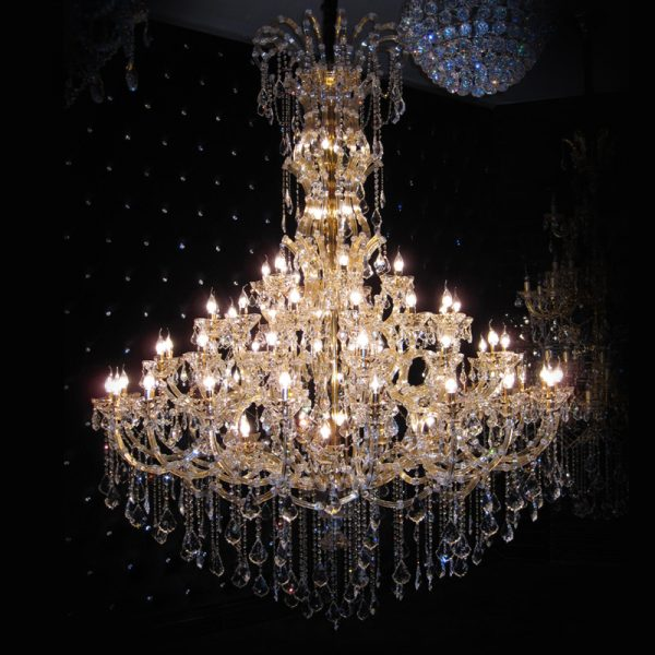 LED lighting flush mount K crystal modern font b chandelier b font Hardware hotel project Luxury