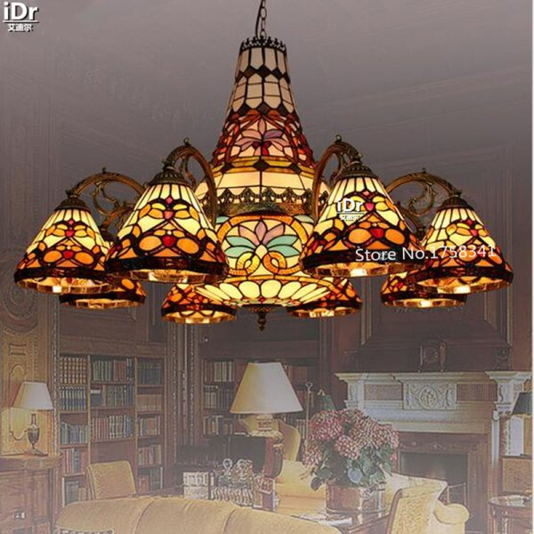 LED lights living room lamp Iron Dili bedroom lamp restaurant lighting project font b Chandeliers b
