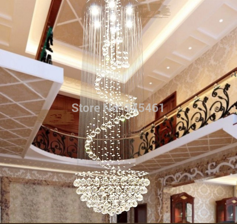 Led modern minimalist duplex staircase chandelier crystal chandelier led modern minimalist duplex staircase chandelier crystal chandelier hanging lamp for villa clubhouse lobby long cable lights aloadofball Choice Image
