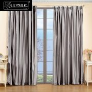 LILYSILK Silk font b Curtain b font  Momme New Classical Living Room Drapes Rod Pocket