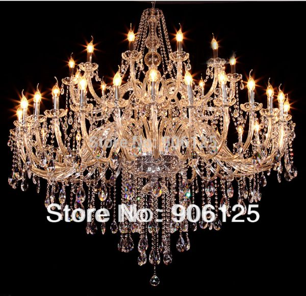 Large Modern Crystal font b Chandelier b font Light Fixture Hotel Lobby Shopping Mall Villa Crystal