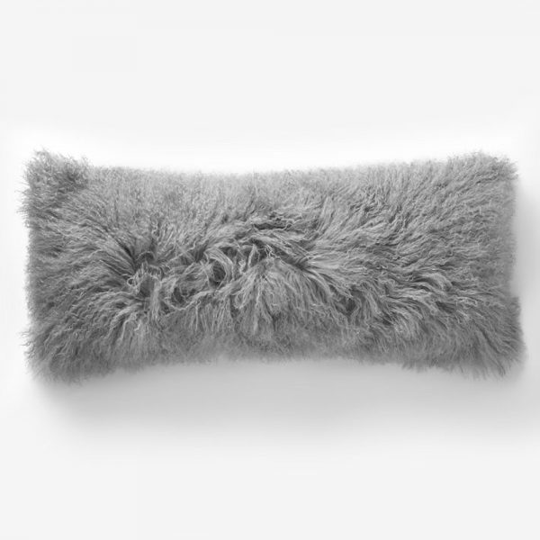 Light Gray Tibetan Pillow font b Cover b font Mongolian Lamb Fur font b Cushion b