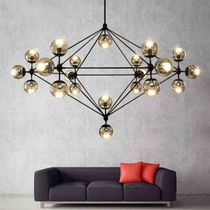 Loft Minimalist font b Chandeliers b font The Beanstalk LED Retro Lamps Art Decoration Lights E