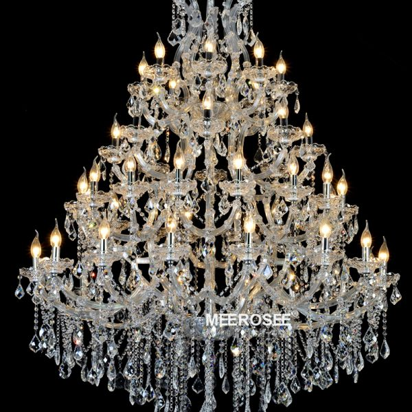 Luxurious Large Crystal font b Chandelier b font Lighting Maria Theresa Crystal Light for Hotel Project