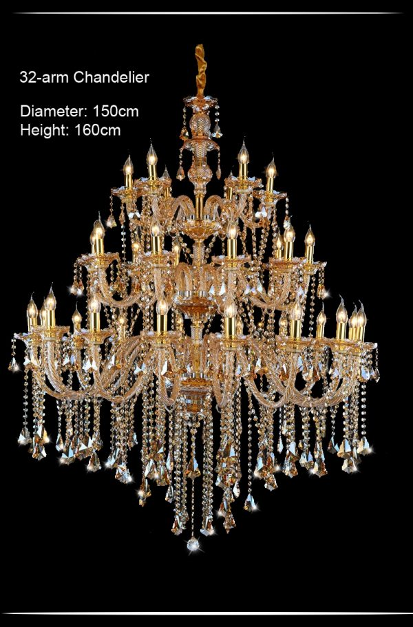 Luxury  Arms Royal Villa Crystal font b Chandelier b font Lamp with Top Quality and