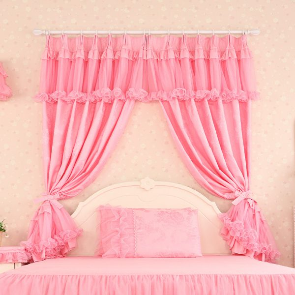 Luxury font b Curtains b font For Living Room Pink Lace Cortinas Tulle Sheer Modern Jacquard