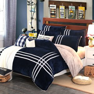 MECEROCK  Autumn And Winter Warm Flannel Bedding Sets Fleece font b Duvet b font font