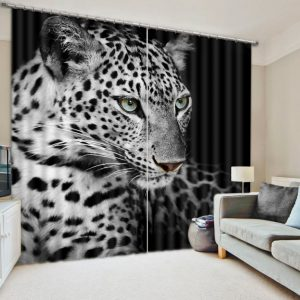 Modern Chinese Luxury D Blackout Tiger font b Curtains b font For Bedding room Living room