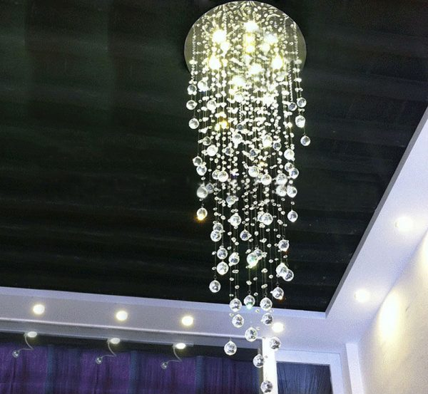Modern Comtemporary Rain Drop Top K LED Crystal font b Chandelier b font Ceiling Lighing Fixture