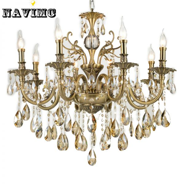 Modern Luxury Large Gold Crystal font b Chandeliers b font Lighting Fixtures Lamp for Living Room