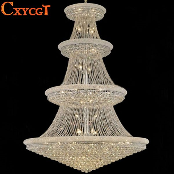 Modern Luxury Led Large Chrome Gold Luster Crystal font b Chandelier b font Light Fixture Classic