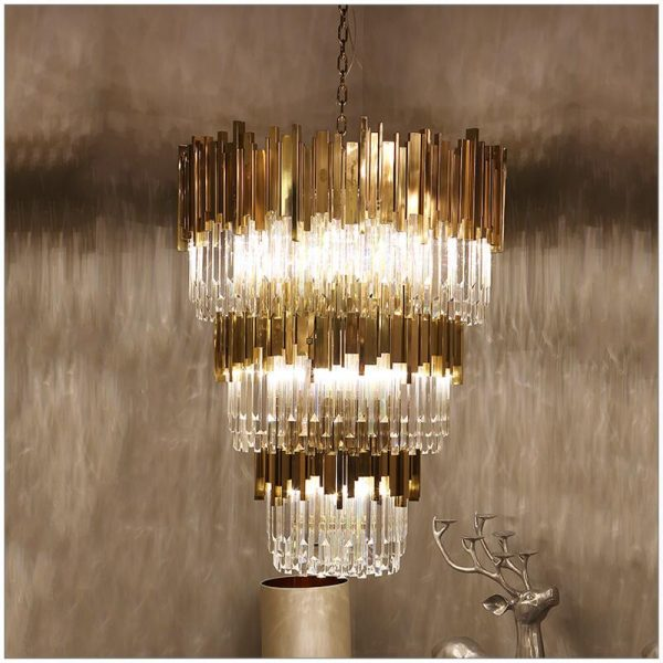 Modern crystal font b chandelier b font sitting room atmosphere deluxe hotel droplight cm customized
