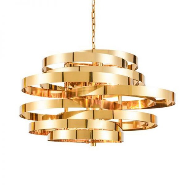 Modern golden font b chandeliers b font lighting stainless steel pendant Free shipping