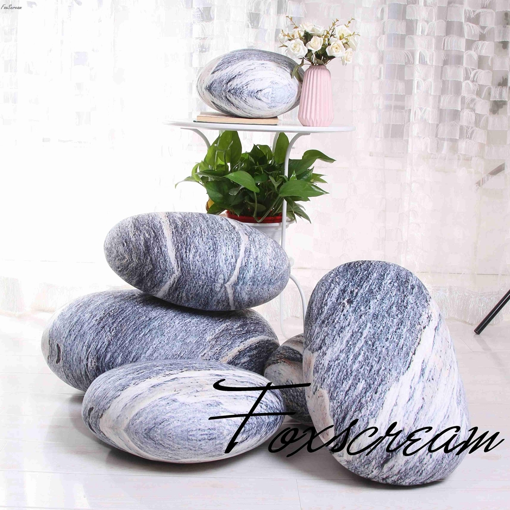 Modern large cushions 6 pieces Stones Pillows Covers ...