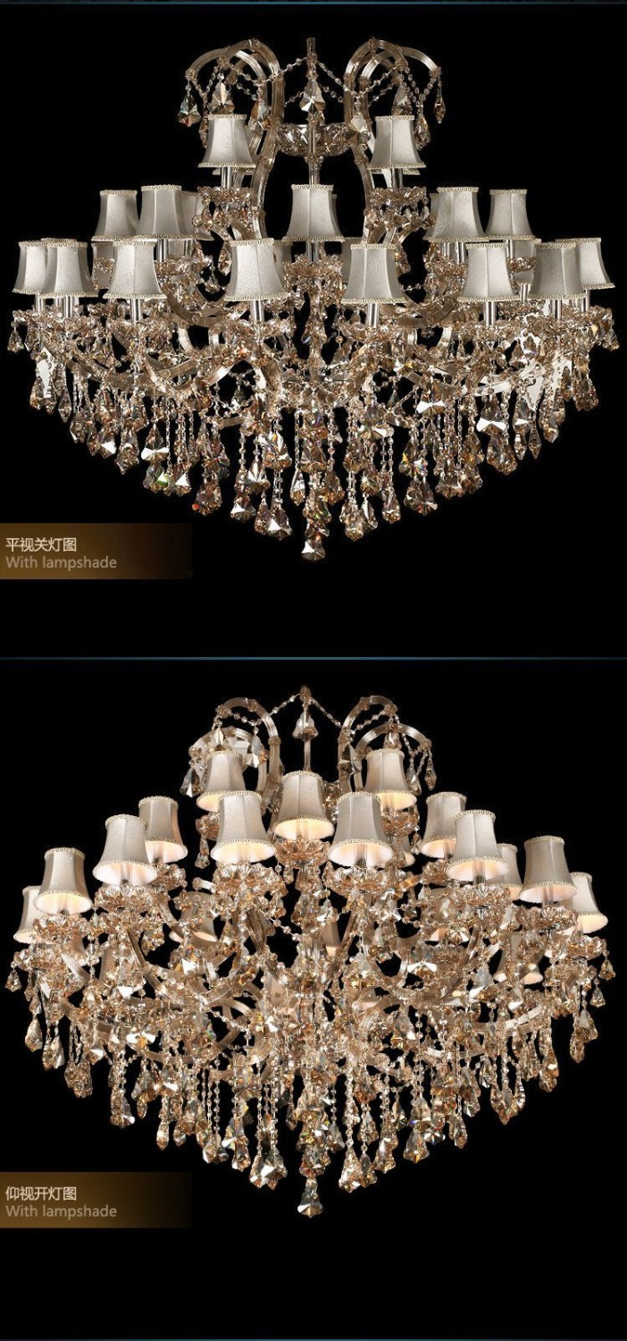 New great 28 arms maria theresa crystal chandelier light for Great chandeliers
