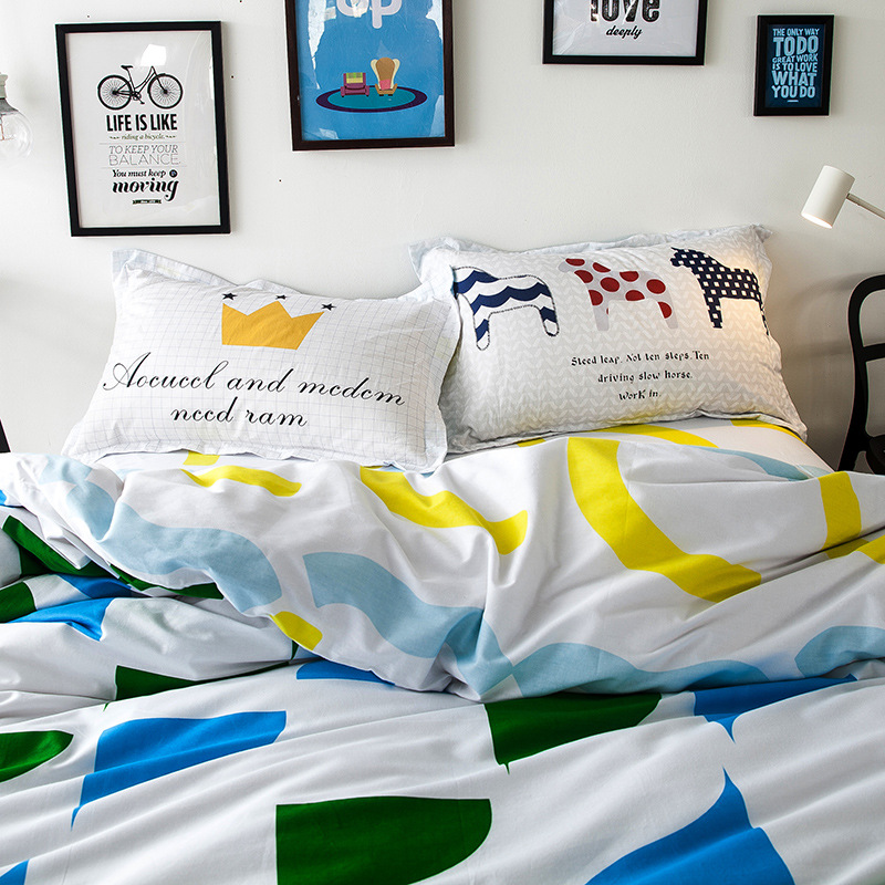 New arrival eco friendly printing100 cotton bedding sets for Sustainable interior design products