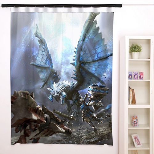 New Frontier G Monster Hunter Anime Japanese Window font b Curtain b font Door Entrance Room