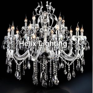 Newly Silver Finished Modern Crystal font b Chandelier b font Lingting Luxurious K Crystal Lamp Lustre