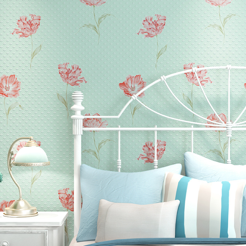 Norwich Eco 3D 3D Pastoral Wallpapers Non-woven Simple Bedroom Wallpaper  Living Room Sofa Background Wall Thickness wallpaper-3d