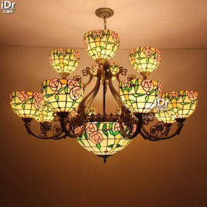 Pastoral double lamp living room lights bedroom lights rose warm wedding room decoration lamps font b