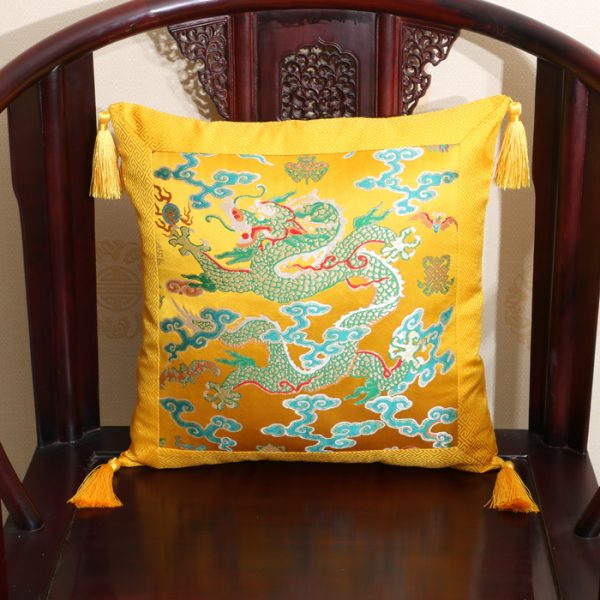 Patchwork Dragon Pattern Tassel font b Cushion b font font b Covers b font Sofas Chairs