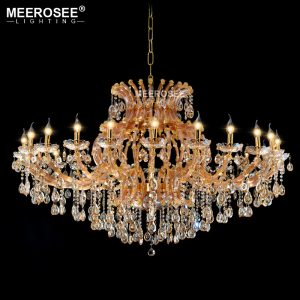 Projct Lamp Large Luxury Amber Crystal font b Chandelier b font Lighting Crystal Light Hotel Restaurant