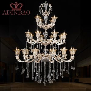 Promotion high quality K crystal font b chandelier b font luxury lobby crystal font b chandeliers