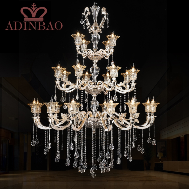 Promotion High Quality K Crystal Font B Chandelier Luxury Lobby Chandeliers