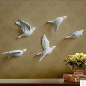 Resin bird three dimensional font b wall b font decor font b wall b font font