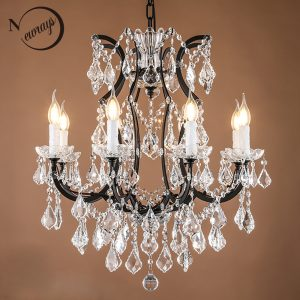 Retro vintage crystal drops font b chandeliers b font large french Europe empire style crystal font