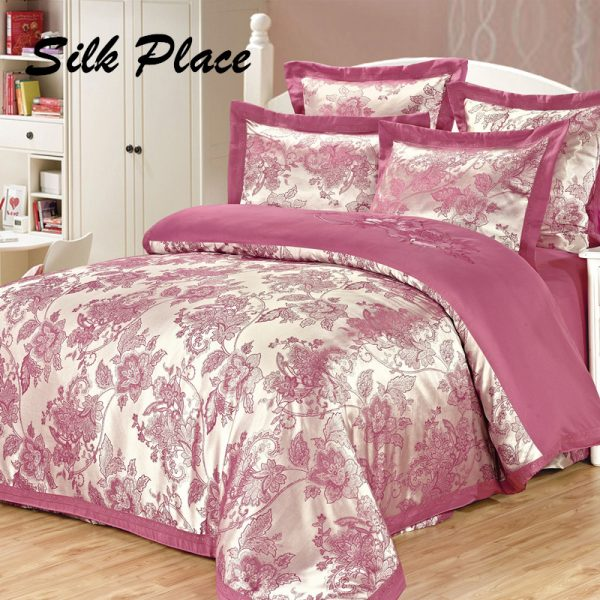 SILK PLACE  New Fashion Brand Satin font b Bedding b font font b Set b