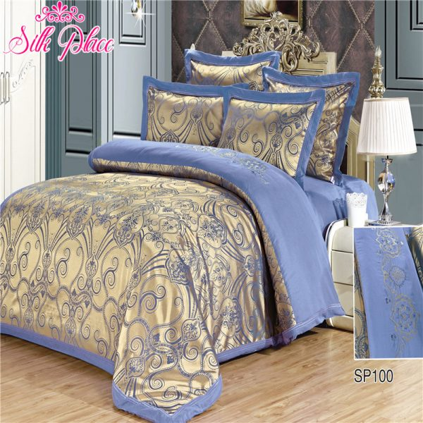 Silk Place Fashion Quality Bedding Set Queen Size Jacquard font b Duvet b font font