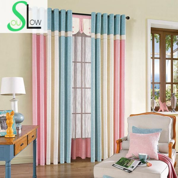 Slow Soul font b Curtain b font Cloth Room Italy Cotton Stitching font b Curtains