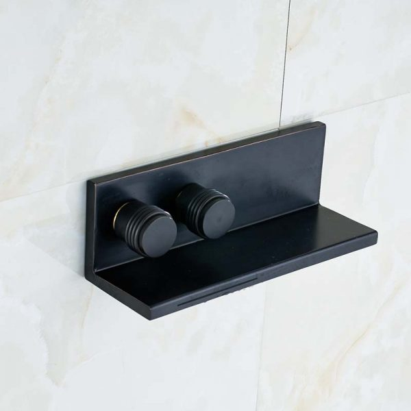 Solid Brass Oil Rubbed Bronze Waterfall Spout Square Bathroom font b Basin b font font b