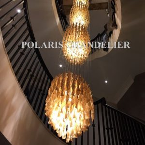 Stair Case font b Chandelier b font Modern Luxury Large Big Glass font b Chandeliers b