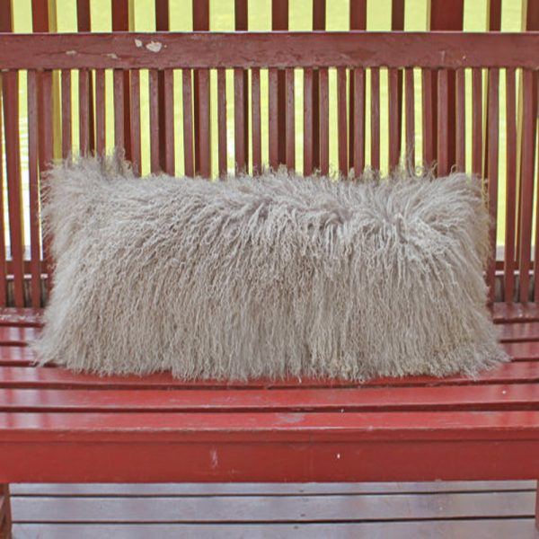 Stone Gray Mongolian Fur Pillow font b Cover b font Decorative Pillows Chair Tibetan Fur font
