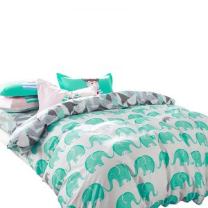 Svetanya Elephant bedding sets  cotton pcs Bedlinen Twin Double Queen font b duvet b font