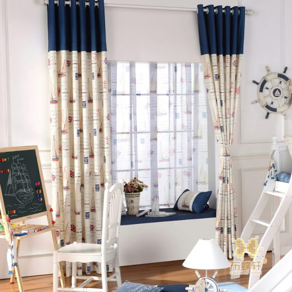 The cartoon children s room environmental health custom font b curtains b font shading sunscreen fabrics