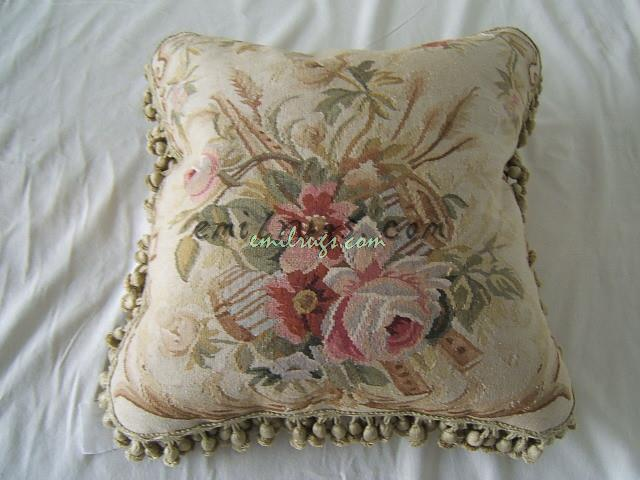 Top aubusson font b cushion b font font b cover b font seat sofa chair antique