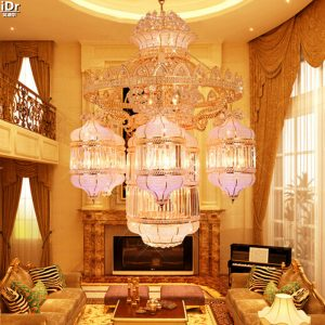 Traditional crystal headlamps hotel lobby penthouse floor living room lights headlight major projects font b Chandeliers