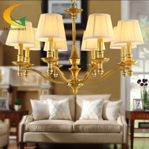 Village luxury font b chandelier b font all copper lamp retro living room font b chandelier