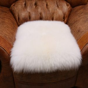White Natural Sheepskin Pillow font b Cover b font Sheep Skin font b Cushion b font