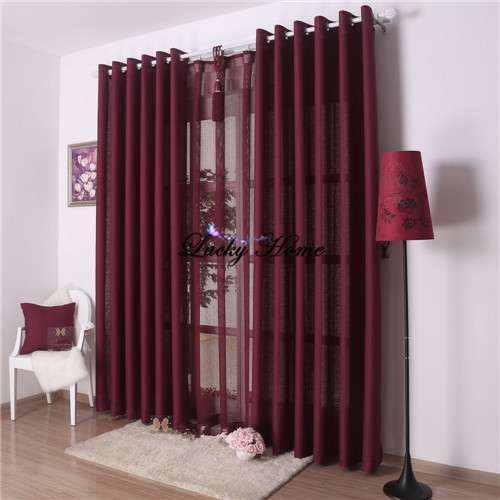 Window Screening font b curtains b font for living room blackout   pcs tulle