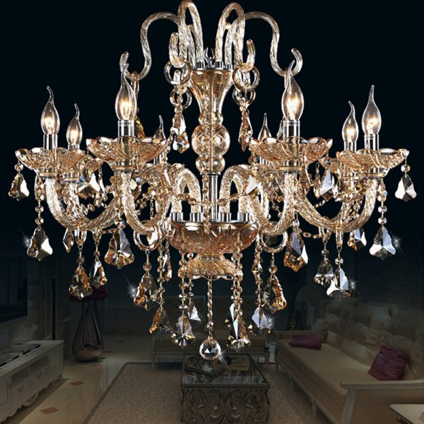 YL Crystal font b Chandelier b font Living Room lustres de cristal Decoration Ues E Bulbs